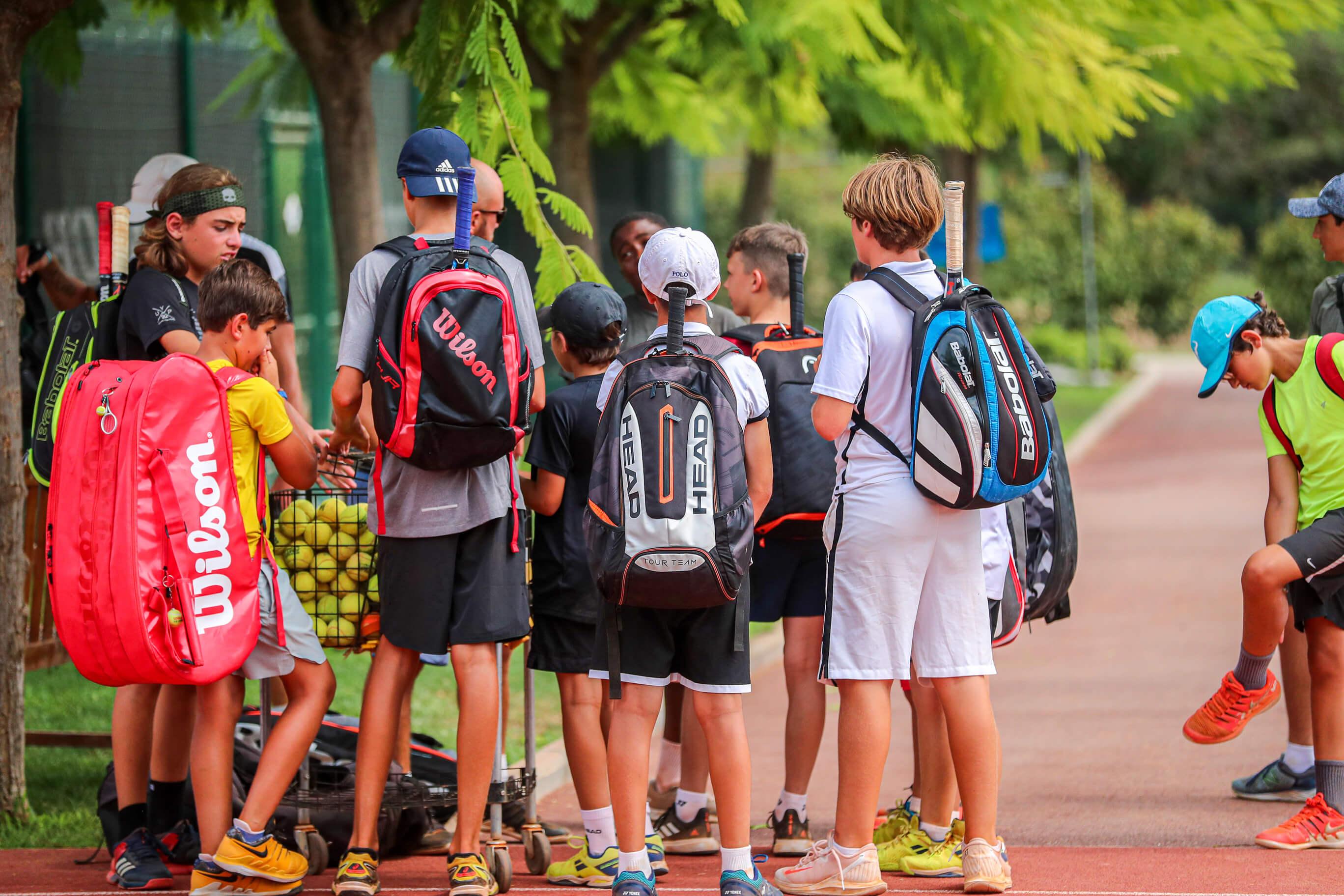 groupe tennis enfants ados