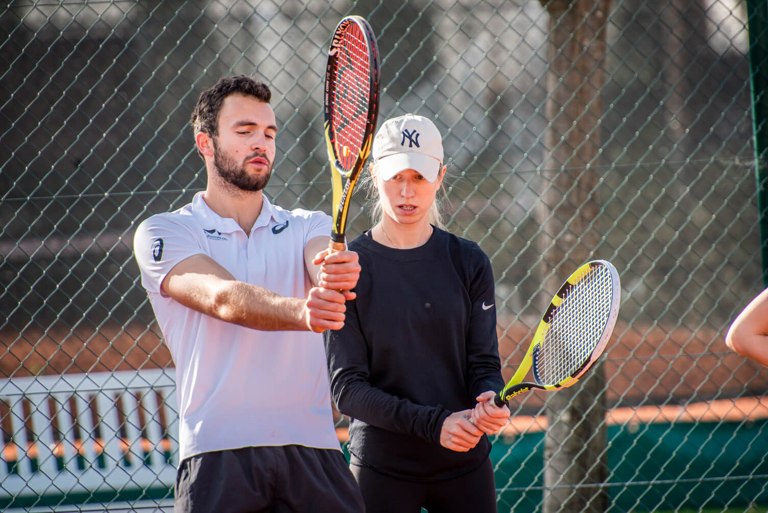 coaching tennis one to one